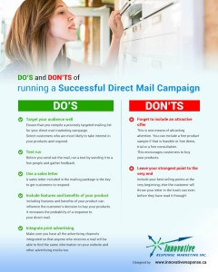 Infographics - Do and Donts of Direct Mail