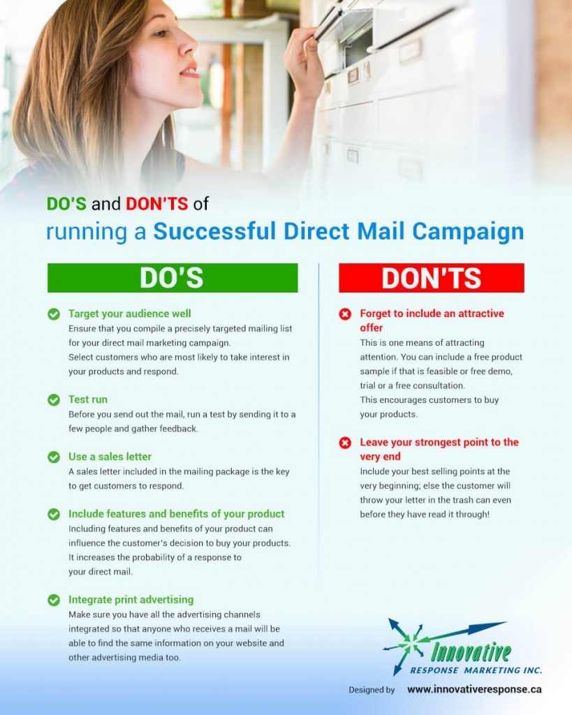 Do and Dont of Direct Mail Infographic